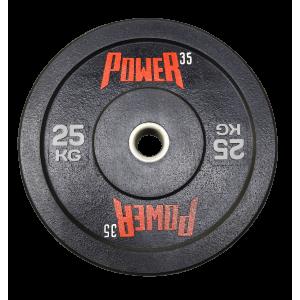 Диск 25 кг бамперный для кроссфита, ТА и тренировок