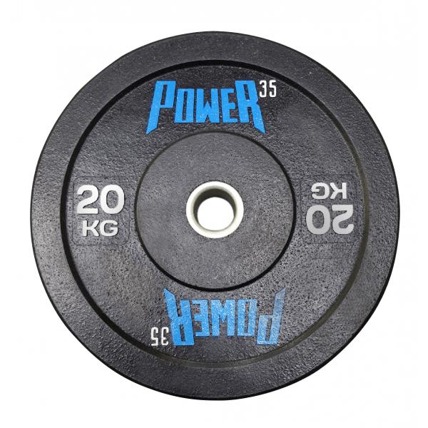 Диск 20 кг бамперный для кроссфита, ТА и тренировок